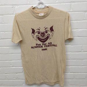Vintage 80's Clown T Shirt Size Medium